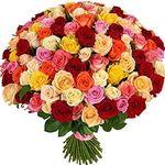 Купить 101 розу с доставкой - цветы и букеты на uaflorist.com