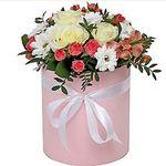 Купить цветы в коробке - цветы и букеты на uaflorist.com