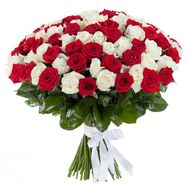 101 red and white rose - flowers and bouquets on uaflorist.com