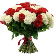 Red and white bouquet of roses - flowers and bouquets on uaflorist.com