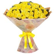 101 yellow rose in paper - flowers and bouquets on uaflorist.com