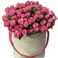 25 pink bush roses in the box - flowers and bouquets on uaflorist.com