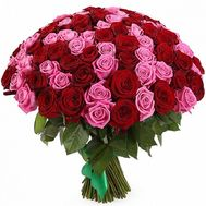 An elegant bouquet of 101 roses - flowers and bouquets on uaflorist.com