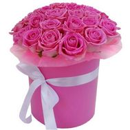 A magnificent box of pink roses - flowers and bouquets on uaflorist.com