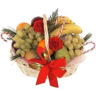 Новогодняя корзина фруктов - цветы и букеты на uaflorist.com