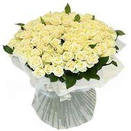 Величезний букет троянд з 101 білої троянди - цветы и букеты на uaflorist.com