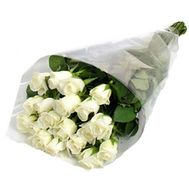 21 imported white roses - flowers and bouquets on uaflorist.com