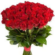 Bouquet of 55 red roses - flowers and bouquets on uaflorist.com
