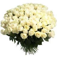 A bouquet of 151 white imported roses - flowers and bouquets on uaflorist.com