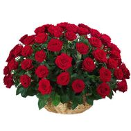 A large basket of 51 roses - flowers and bouquets on uaflorist.com