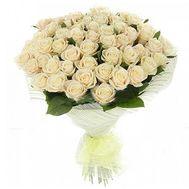 51 белая роза - цветы и букеты на uaflorist.com