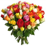 65 multicolored roses - flowers and bouquets on uaflorist.com