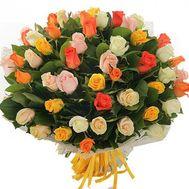 51 разноцветная роза - цветы и букеты на uaflorist.com