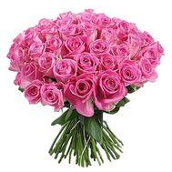 45 розовых роз - цветы и букеты на uaflorist.com