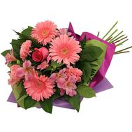 Bouquet of 3 gerberas, 3 alstroemerias, 3 carnations and 1 rose - flowers and bouquets on uaflorist.com
