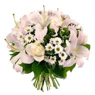 Bouquet of 7 roses, 3 lilies, 9 chrysanthemums - flowers and bouquets on uaflorist.com