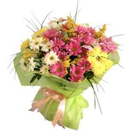 Букет квітів 11 ромашкоподібних хризантем - цветы и букеты на uaflorist.com