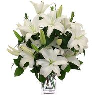 Bouquet of 9 lilies of flowers - flowers and bouquets on uaflorist.com