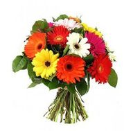Bouquet of flowers from 15 gerberas - flowers and bouquets on uaflorist.com