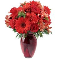New Year''s bouquet of gerberas, roses, carnations, toys' - flowers and bouquets on uaflorist.com