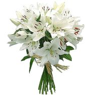 Bouquet of 13 lilies of flowers - flowers and bouquets on uaflorist.com