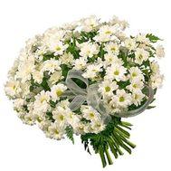19 белых ромашковидных хризантем - цветы и букеты на uaflorist.com