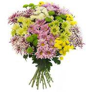 Bouquet of 19 chrysanthemums - flowers and bouquets on uaflorist.com