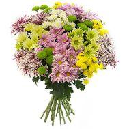 Букет із 19 хризантем - цветы и букеты на uaflorist.com