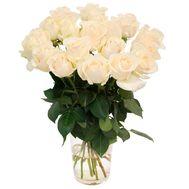 15 белых роз - цветы и букеты на uaflorist.com