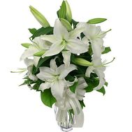 Bouquet of 5 lilies of flowers - flowers and bouquets on uaflorist.com