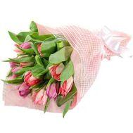 Букет из 15 тюльпанов - цветы и букеты на uaflorist.com