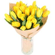A bouquet of 21 yellow tulips - flowers and bouquets on uaflorist.com