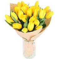 Букет із 21 жовтих тюльпанів - цветы и букеты на uaflorist.com