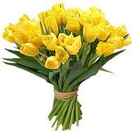 Букет из 25 желтых тюльпанов - цветы и букеты на uaflorist.com