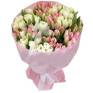 VIP bouquet of spring flowers from 101 tulips - flowers and bouquets on uaflorist.com