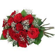 13 роз с гипсофилой - цветы и букеты на uaflorist.com