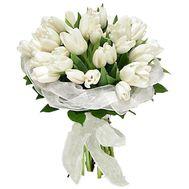Букет із 35 білих тюльпанів - цветы и букеты на uaflorist.com