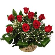 Кошик квітів з 11 троянд - цветы и букеты на uaflorist.com