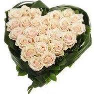 A composition of 27 white roses - flowers and bouquets on uaflorist.com