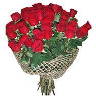 25 червоних імпортних троянд - цветы и букеты на uaflorist.com