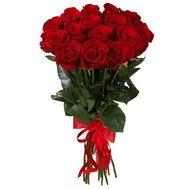Букет із 15 червоних імпортних троянд - цветы и букеты на uaflorist.com
