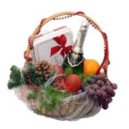 Fruit Basket for New Year - flowers and bouquets on uaflorist.com