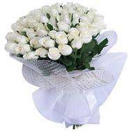 Букет из 41 белой импортной розы - цветы и букеты на uaflorist.com