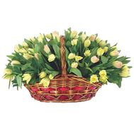 A huge basket of 85 tulips - flowers and bouquets on uaflorist.com