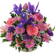 Basket of 17 spring flowers - flowers and bouquets on uaflorist.com