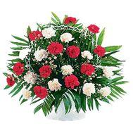 Корзина цветов из 29 гвоздик - цветы и букеты на uaflorist.com