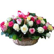 Basket of flowers from 41 roses - flowers and bouquets on uaflorist.com