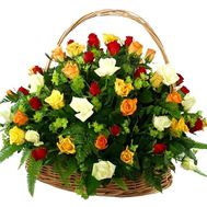 Basket of flowers from 51 roses - flowers and bouquets on uaflorist.com