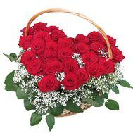 Композиция из 27 красных роз - цветы и букеты на uaflorist.com
