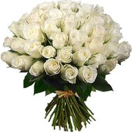 55 white import roses - flowers and bouquets on uaflorist.com
